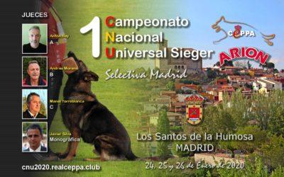 I CAMPEONATO NACIONAL UNIVERSALSIEGERS REAL CEPPA